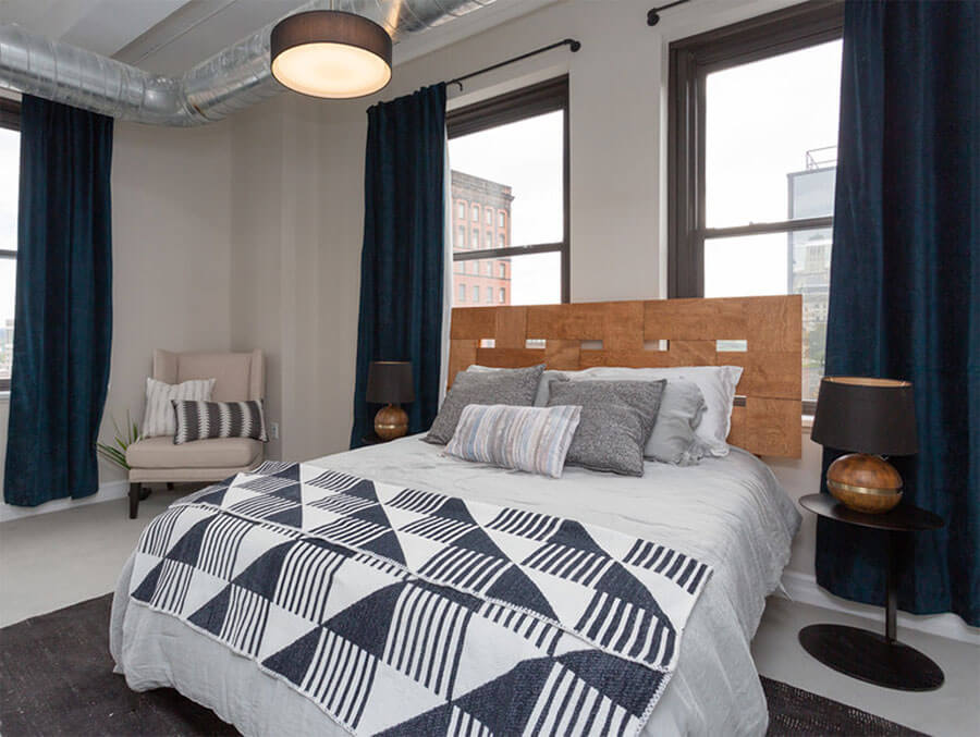 Bedroom with views of downtown Albany
